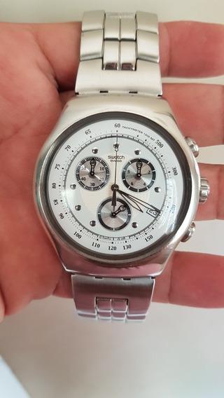 Relógio Swatch Irony Wealth Star Yos 401 = Diaphane =scuba