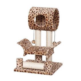 Catry Leopard Print Cat Tree Condo House 18 X 18 X 28 Marró