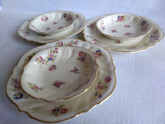 Set X16 Platos Y Compoteras De Porcelana Alemana