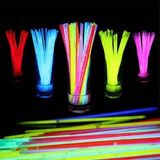 Hora Loca Cotillón 100 Pulseras Glowstick Neon Fluorescentes