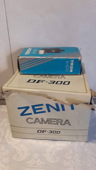 Camera Zenith Df 300 Mais Flash Tron Antigos Ler Descrião