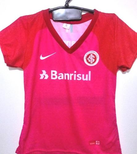 Camisa Internacional Rosa Chumbo Feminina Mercado Livre