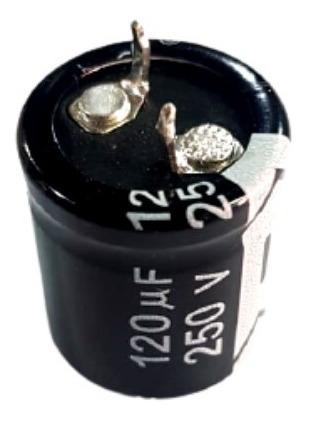 Imagem 1 de 5 de Capacitor Eletrolitico 120uf/250v 105ºc