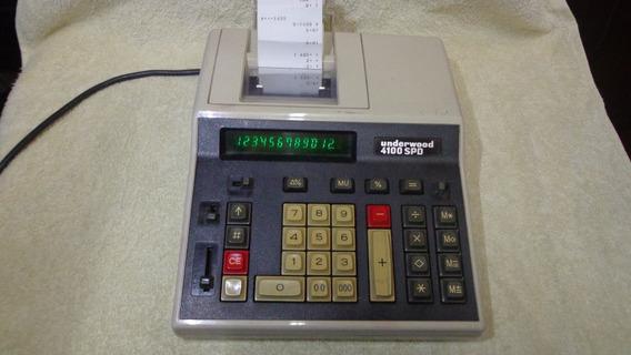 Calculadora Underwood 4100 Spd - 12 Digitos - Funcionando