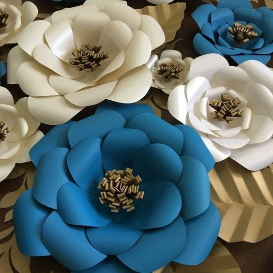 Flores Cartulina Papel Decoracion Fiestas Vidrieras Y Mas!