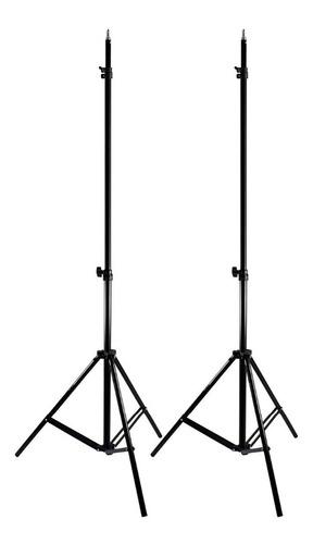 Imagem 1 de 9 de 2 Unidades Tripés  Para Iluminação E Flash Estúdio St-803 2m