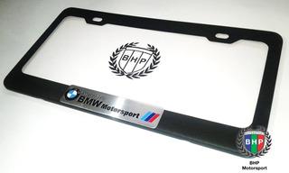 Accesorios Bmw Portaplaca De Metal Color Negro Mate (x2und)