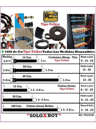 Rollos Y Cintas Organizar Rig Rack Amarrar Cable Utp Velcro