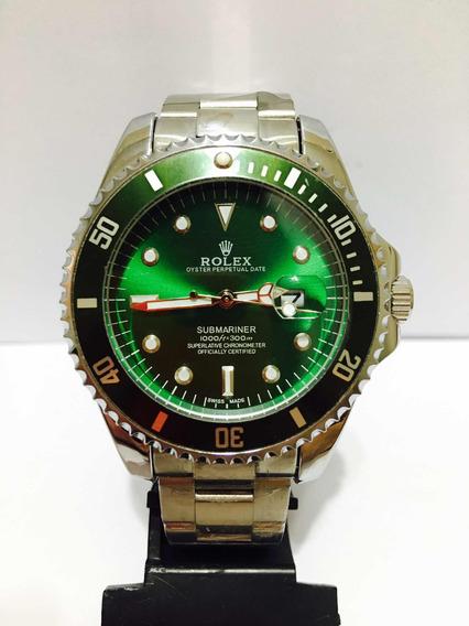Relógio Modelo Submariner De Caixa Grande 45mm Silver Green