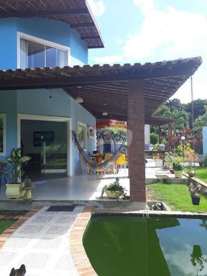 Casa Em Aldeia, Condomínio Km 14, 5 Quartos. - Ca0223