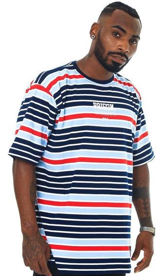 Camiseta Listrada Prison Lighter Ocean