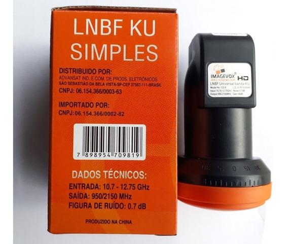 4 Lnb Ku Simples Universal Uhd 4k Novo .