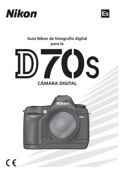 Manual Nikon D70s Cámara Digital - Em Espanhol -excelente!!!