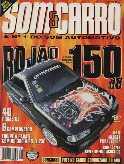 Revista Som & Carro N°8 Vw Parati Teste Mazda Picape Corsa
