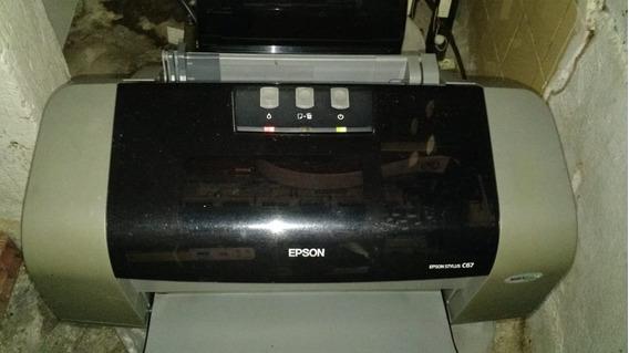 Impressora Epson Stylus C67 Com Defeito! Liga! Não Imprime!