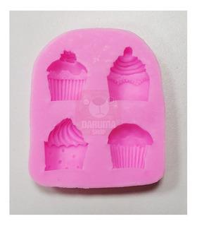 Molde Silicona 4 Figura Cupcake Reposteria Fondant Belgrano