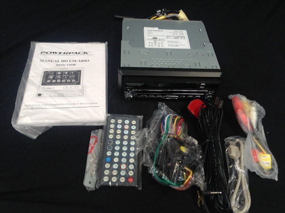 Dvd Player Automotivo - Retrátil Power Pack - Dvtv-730b