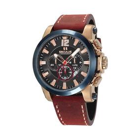 Relógio Cronógrafo Seculus Masculino 13027gpsvdc1 Rosé