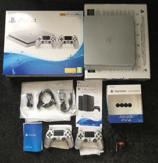 Consola Sony Ps4 Slim Silver 500gb Edición Limitada