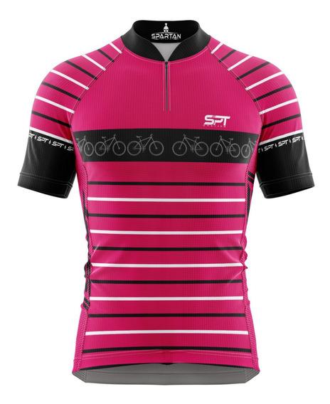 Camisa Mtb Ciclista Spartan New (f) - Ref 08 - Uv 50+