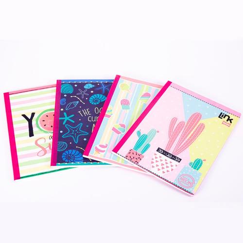 Cuaderno Grande Con Sticker Cosidos X 100 Hojas 10 Unidades