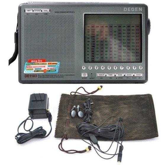 Rádio Degen De1103 Receptor Digital Com Dsp Pronta Entrega