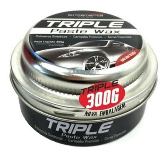Cera De Carnauba Triple Paste Wax Autoamerica 300g C/aplic