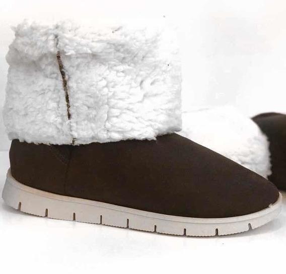 Bota Coturno Pelo De Neve Frio Estilo Ugg 100% Forrada Moda