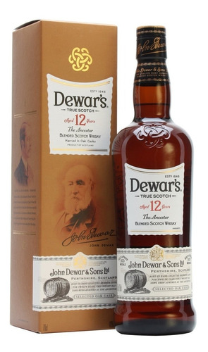 Whisky Dewars 12 Años The Ancestor 750ml En Estuche