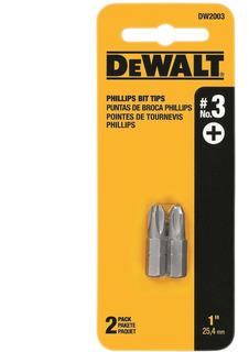 Bits Phillips Encaixe De 1/4 N°3 2 Peças Dewalt - Dw2003