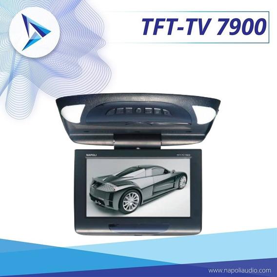 Napoli Tela Flip Down Tft-tv 7900 - 7 Monitor De Teto Carro