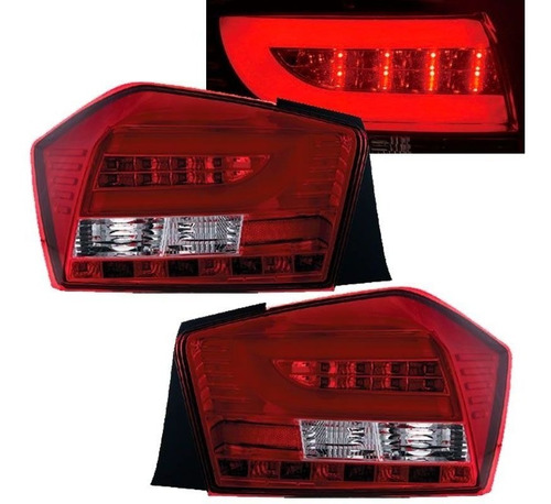 Lanterna Led Honda City 2009 2010 2011 2012 2013 2014 Red