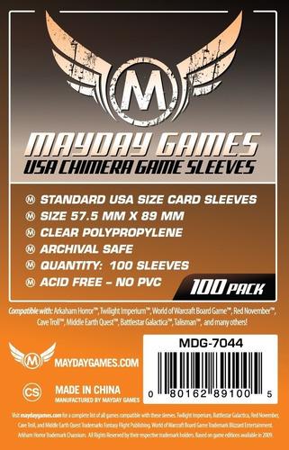 Imagem 1 de 3 de Mayday Usa Chimera 100 Card Sleeves - 57,5mm X 89mm
