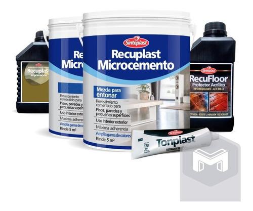Recuplast Microcemento Sinteplast   Kit Completo Para 5m2