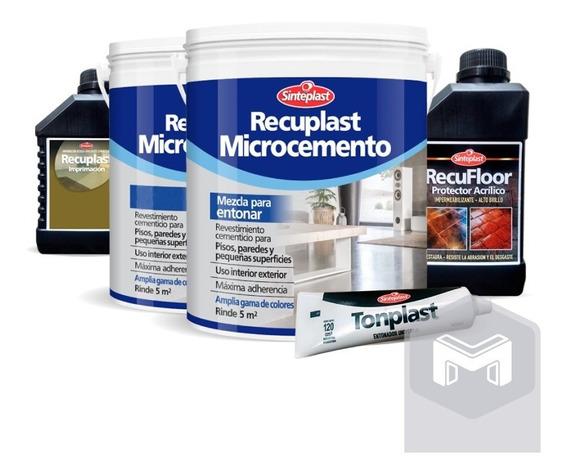 Recuplast Microcemento Sinteplast | Kit Completo Para 5m2