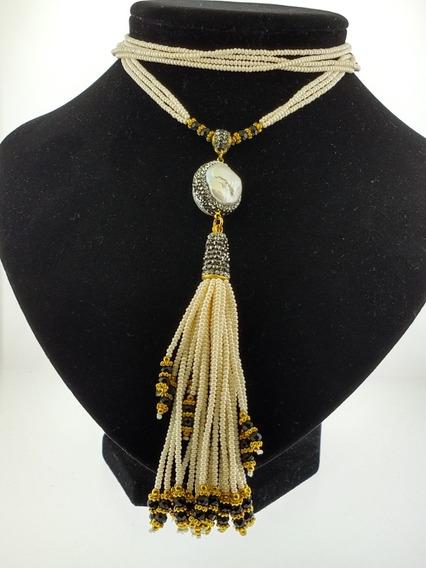 2) Collar Con Perla Natural