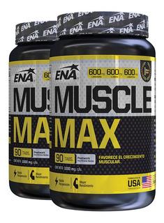 Muscle Max Ena 90 Tab X 2 Uni Arginina Crecimiento Muscular