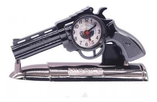 Relógio De Cabeceira Formato Retro Arma Modelo Vintage Mesa