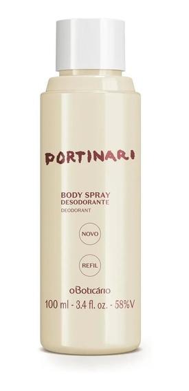 Refil Portinari Desodorante Body Spray, 100 Ml
