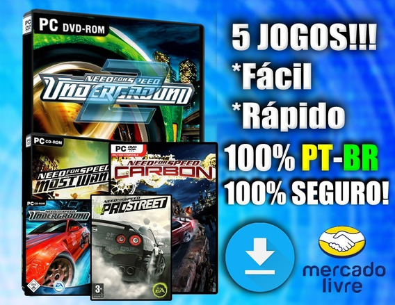 Need For Speed Pc! 5 Jogos 100% Pt-br! Midia Digital