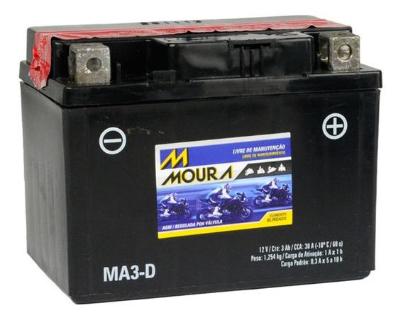 Bateria Moura 3ah Ma3-d Moto Cg125 Crf110 - Ytx4lb-s