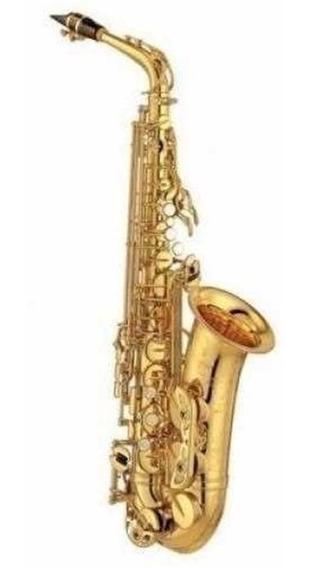 Saxo Alto Knight Jbas-200 Eb, Llave De F# C/estuche Rd Music