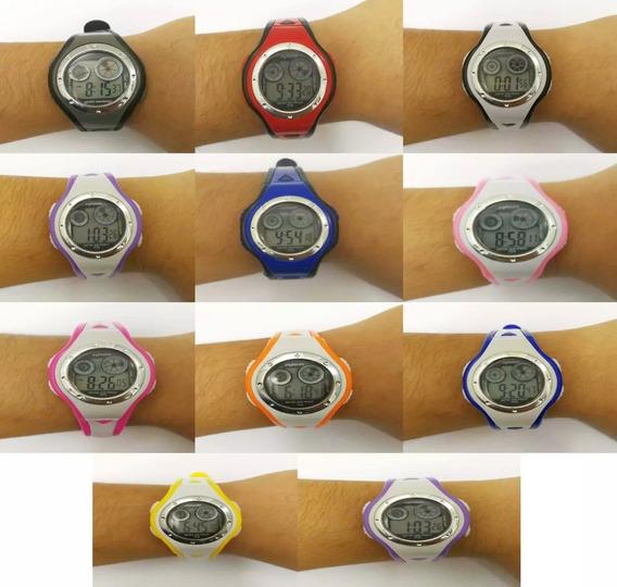 Relógio Digital Infantil Atacado Kit7 Unidade Esporte