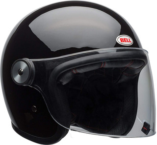 Casco De Moto Abatible Bell Riot (negro Brillante, X-small)