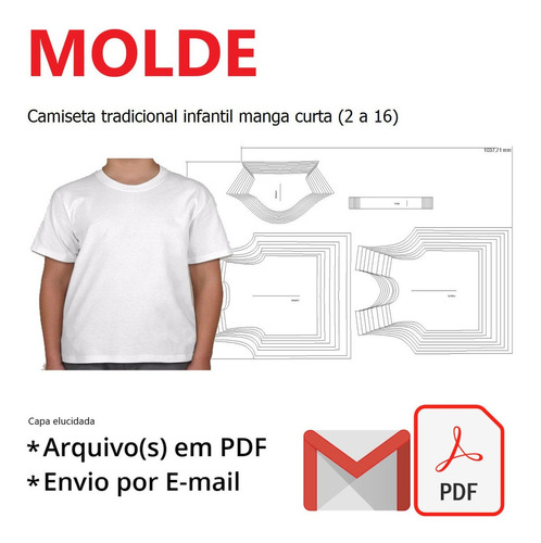 Camiseta Tradicional Infantil Manga Curta (2 A 16)