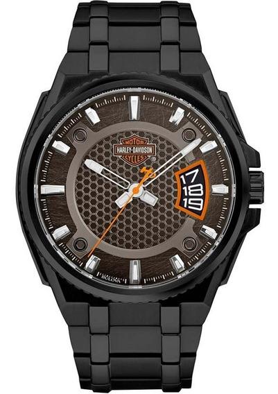 Reloj Harley Davidson 78b151 Hombre Con Fechador E-watch