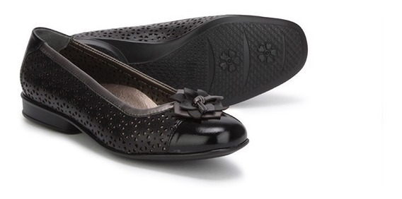 Flats Balerinas Zapatos Dama Onena 7781 Negro Juve