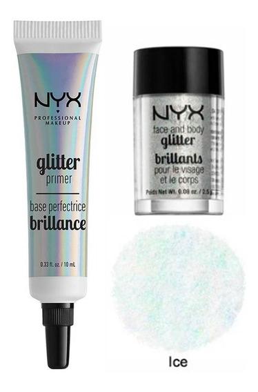 Glitter Con Pega Nyx Sombra Escarcha