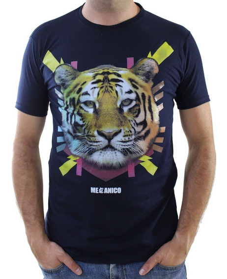 Playera Tiger Full Color Mecánico Jeans
