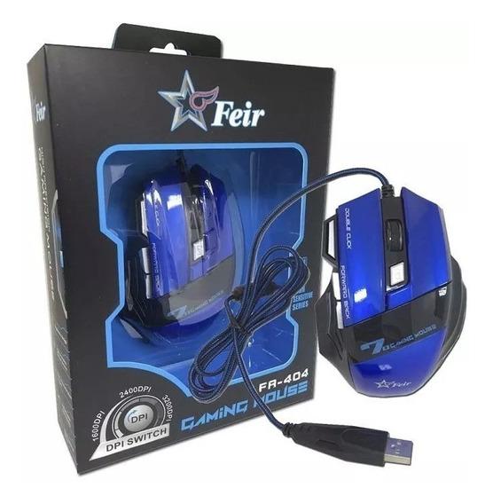 Mouse Gamer Feir Fr-404 Lol Games Rps Fortnite Tiro Minecraf
